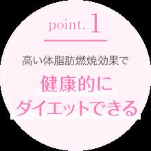 point.1高い体脂肪燃焼効果で健康的にダイエットできる